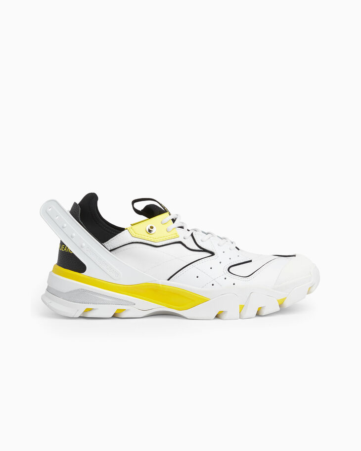 CALVIN KLEIN CHUNKY LOW TOP SNEAKERS WITH PLASTIC TAB