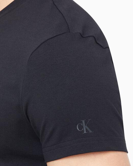 CALVIN KLEIN 남성 슬림핏 뉴 모노그램 반팔 티셔츠