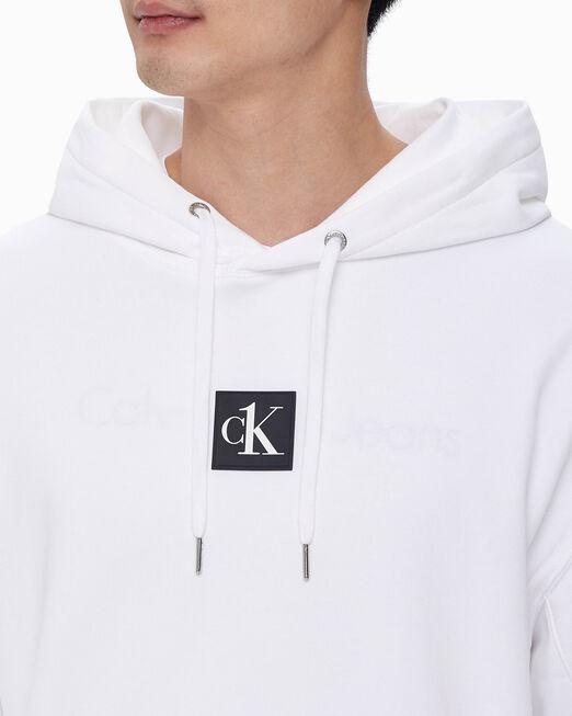 CALVIN KLEIN 남녀공용 CK1 후디 풀오버 스웨트셔츠