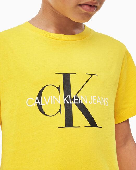 CALVIN KLEIN 남아용 모노그램 반소매 티셔츠