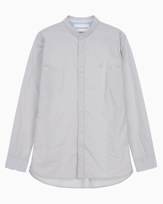 CALVIN KLEIN 남성 레귤러핏 스탠드 카라 우븐 셔츠