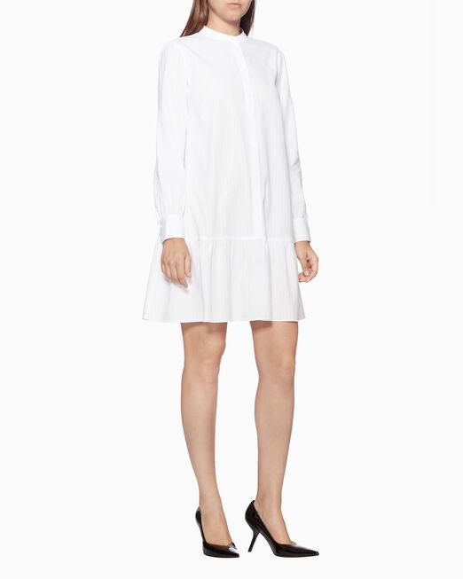 CALVIN KLEIN 코튼 버튼다운 드레스