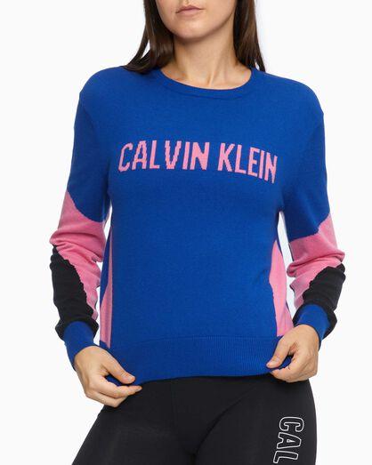 CALVIN KLEIN ORGANIC MOTION COLOR BLOCK SWEATER