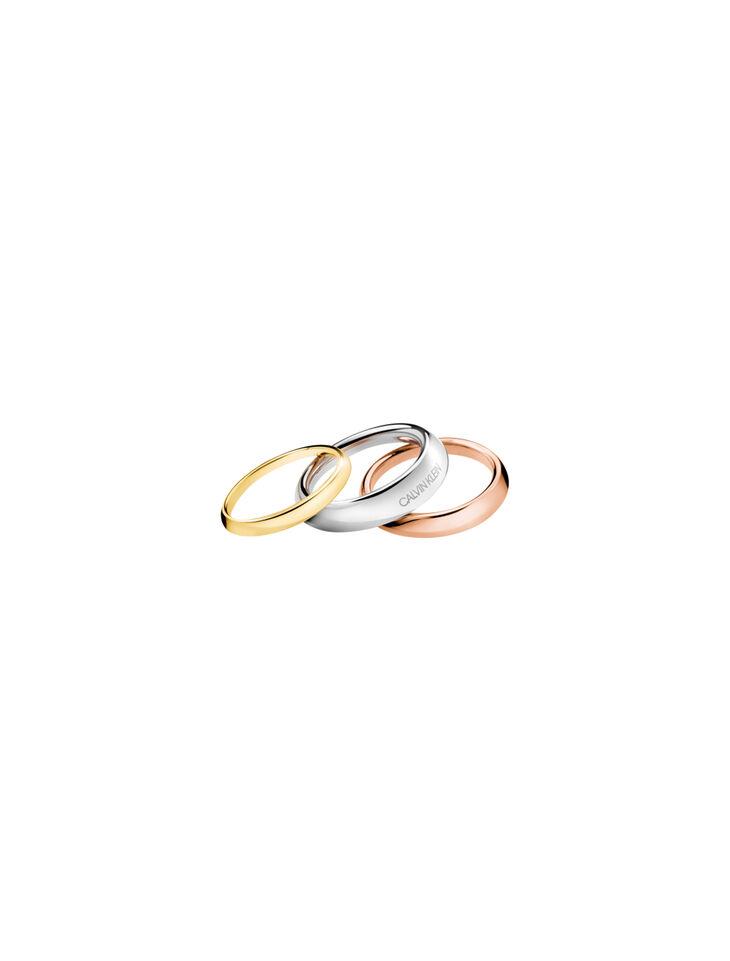 CALVIN KLEIN GROOVY 3 環戒指組