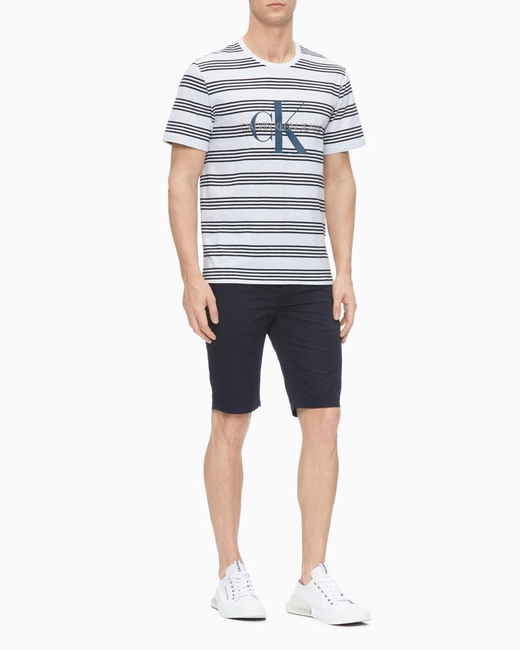 CALVIN KLEIN MONOGRAM STRIPED 上衣
