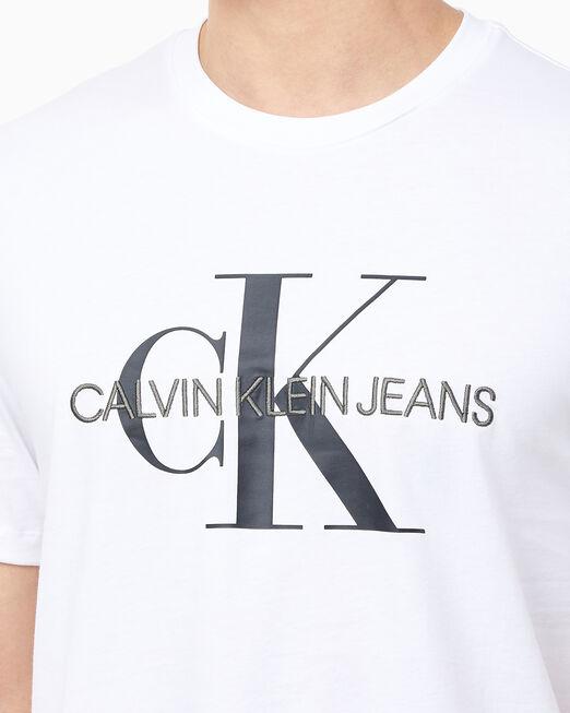 CALVIN KLEIN 남성 모노그램 엠브로 반팔 티셔츠