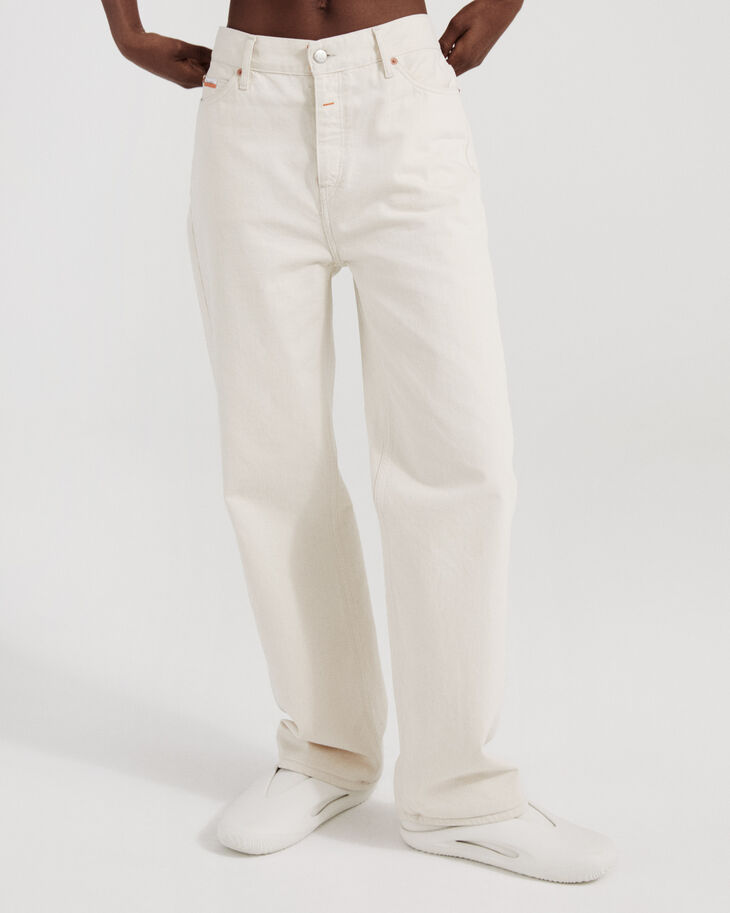 CALVIN KLEIN GARMENT-DYED CANVAS 直筒中腰牛仔褲