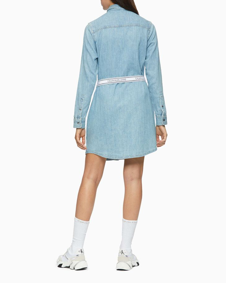 CALVIN KLEIN RELAXED DENIM SHIRT DRESS
