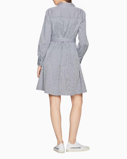 CALVIN KLEIN 핀스트라이프 셔츠 드레스