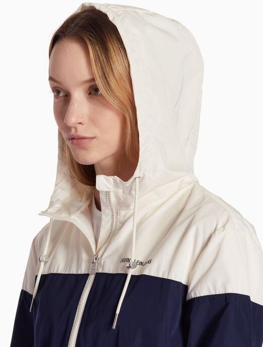 CALVIN KLEIN FS_여성 배색 후디 집업 자켓