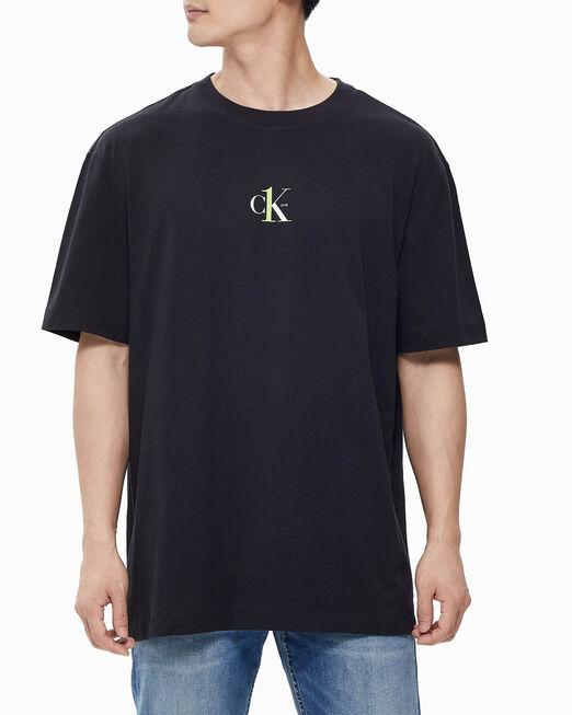 CALVIN KLEIN 남녀공용 레귤러핏 티셔츠