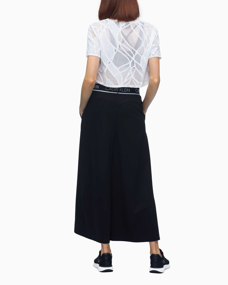 CALVIN KLEIN LACE CROPPED SHORT SLEEVE TEE