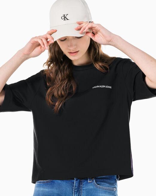 CALVIN KLEIN 여성 팜 트리 그래픽 반팔 티셔츠