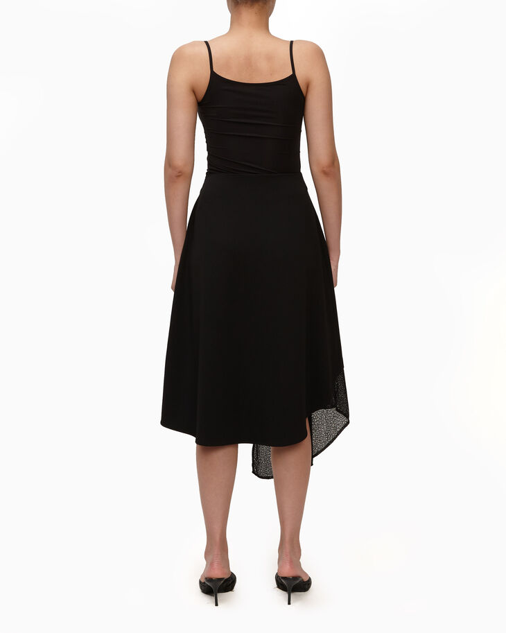 CALVIN KLEIN SCUBA CREPE SKIRT WITH LACE