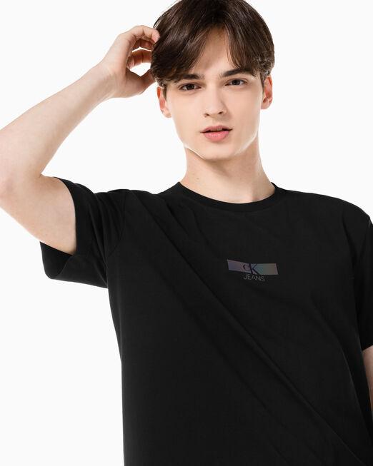 CALVIN KLEIN 남성 이리데슨트 박스 티셔츠