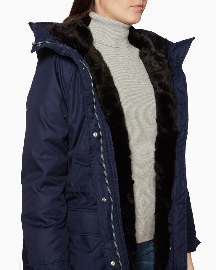 CALVIN KLEIN FUR-LINED DOWN PARKA JACKET