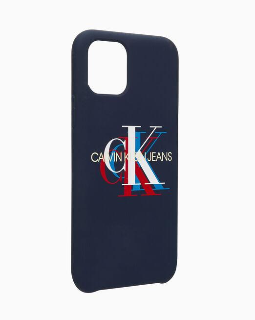 CALVIN KLEIN 테크 CK 모노그램 로고 핸드폰 케이스