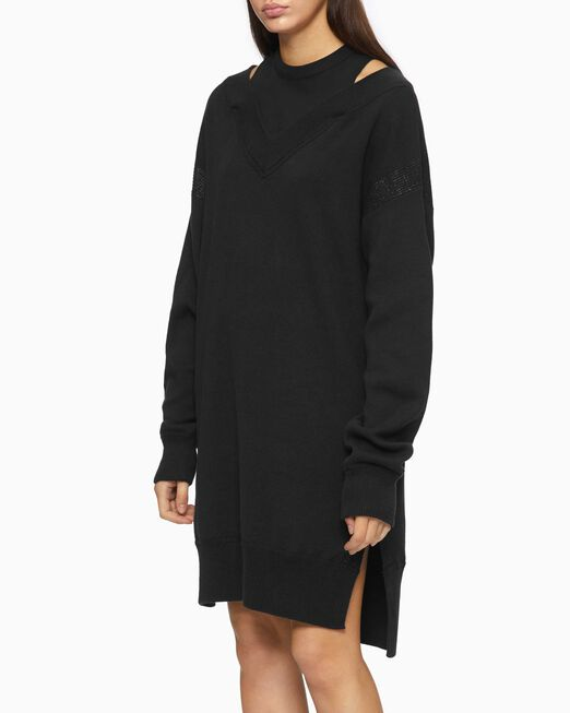 CALVIN KLEIN 2-IN-1 RELAXED KNIT DRESS