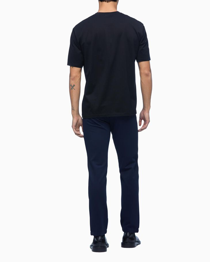 CALVIN KLEIN KNIT MESH PANEL SLIM PANTS