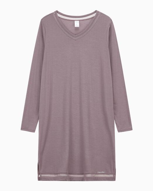 CALVIN KLEIN 여성 퍼펙틀리 핏 플렉스 라운지 롱 슬리브 나이트셔츠