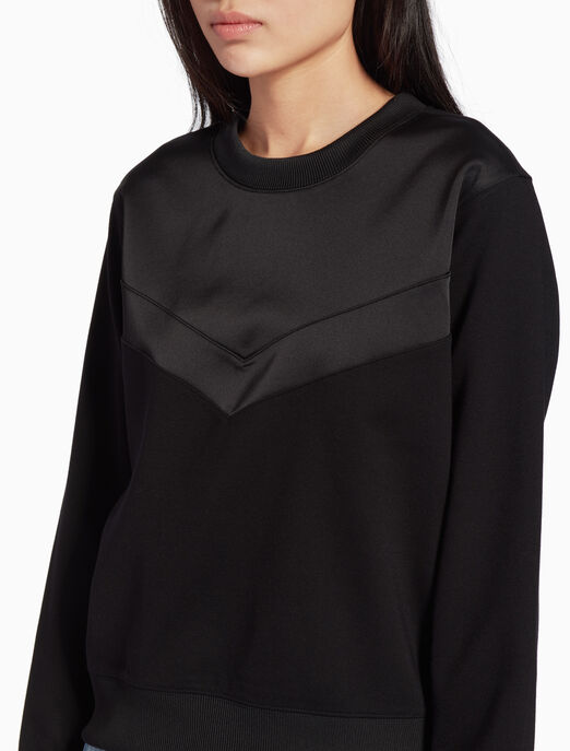 CALVIN KLEIN COTTON AND TENCEL SWEATSHIRT