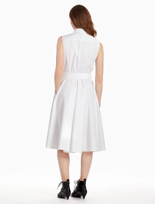CALVIN KLEIN Z 트위스트 민소매 벨트 드레스