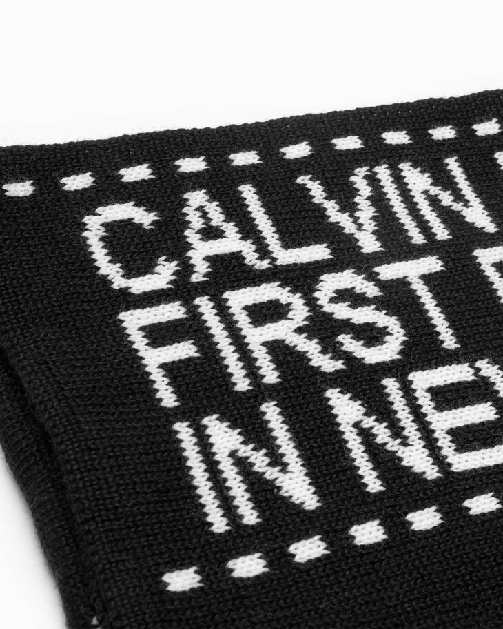 CALVIN KLEIN ESTABLISHED LOGO TAPE SCARF