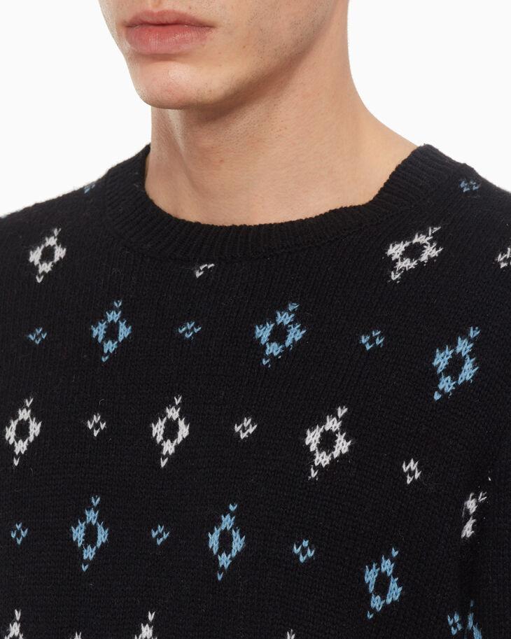 CALVIN KLEIN PRAIRIE JACQUARD 羊毛混紡毛衣