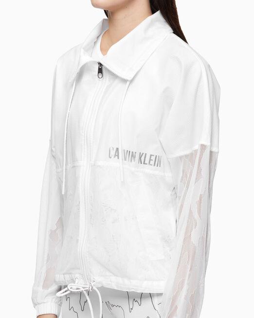 CALVIN KLEIN 여성 믹스 미디어 라이트 웨이트 재킷