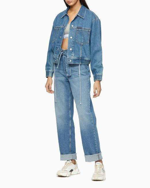 CALVIN KLEIN HIGH RISE FOLD OVER LOOSE JEANS