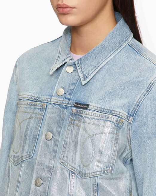 CALVIN KLEIN METAL PAINT OMEGA TRUCKER JACKET