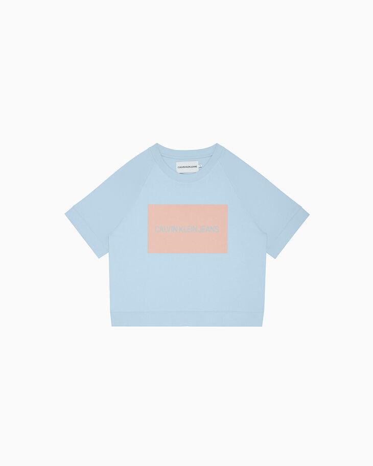 CALVIN KLEIN LOGO BOX ショートスリーブスウェットシャツ