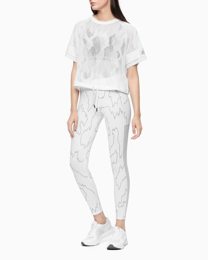 CALVIN KLEIN ALL OVER PRINT 7/8 LEGGINGS