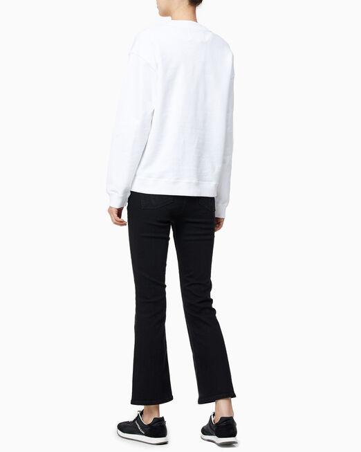 CALVIN KLEIN 여성 모노그램 로고 보이프렌드핏 스웨트셔츠