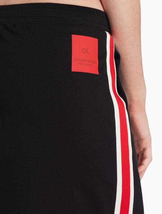 CALVIN KLEIN FS_여성 컬러 패널 니트 스커트