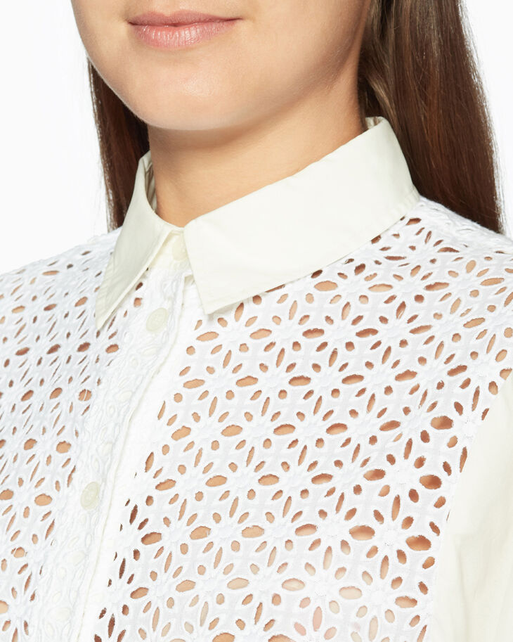 CALVIN KLEIN EMBROIDERED EYELET BOXY 襯衫