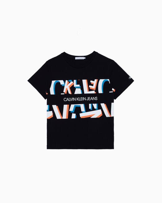 CALVIN KLEIN 남아용 BOLD LETTER PRINT 티셔츠