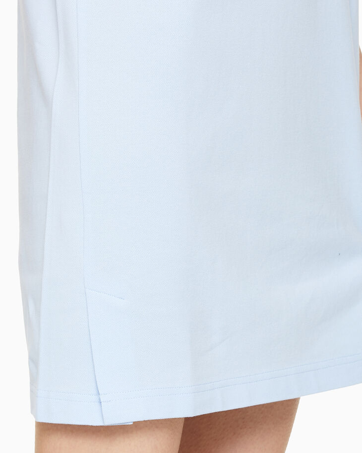 CALVIN KLEIN STATEMENT LOGO COLLAR POLO DRESS