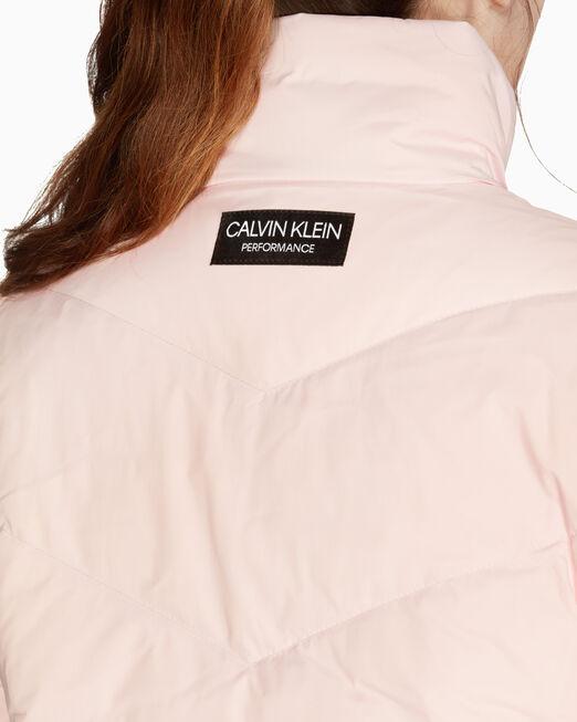 CALVIN KLEIN FS_여성 슬리브 그래픽 다운 자켓