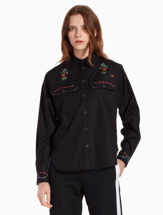 CALVIN KLEIN 자수 셔츠