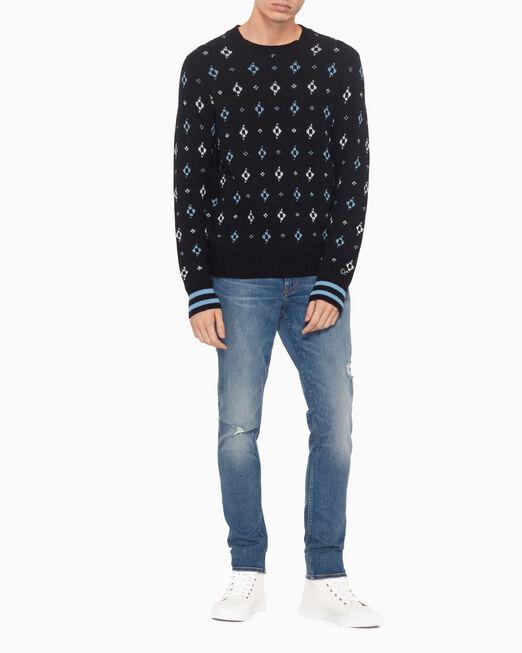 CALVIN KLEIN PRAIRIE JACQUARD WOOL BLEND 스웨터