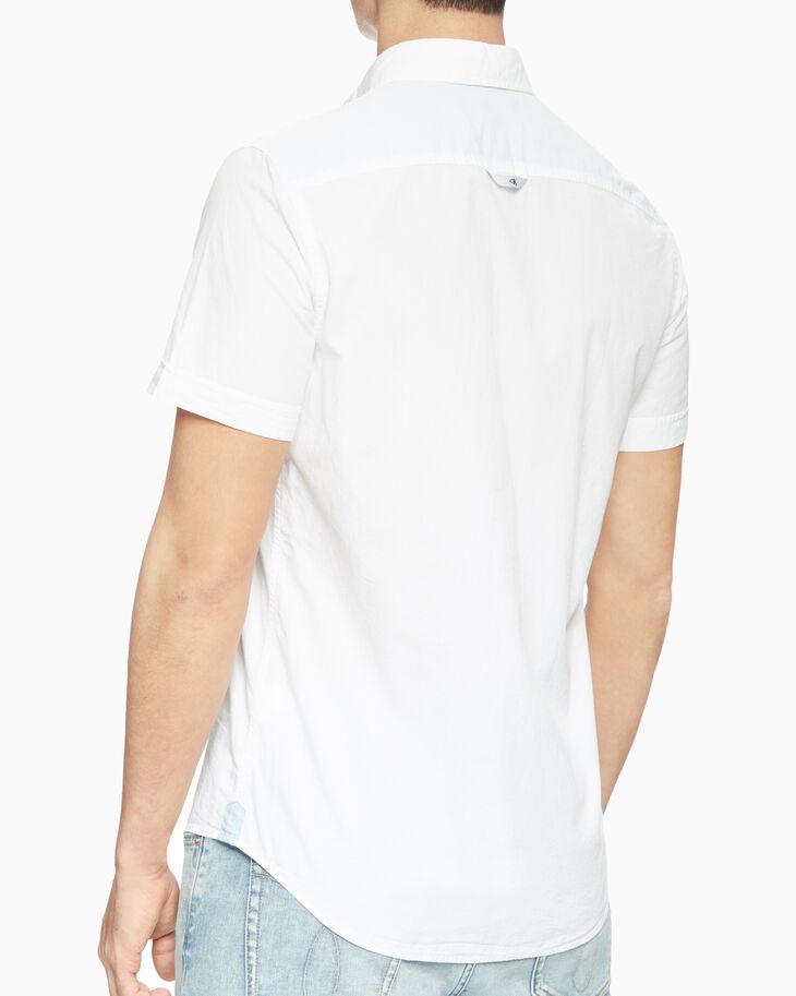 CALVIN KLEIN SLIM FIT SEERSUCKER 襯衫