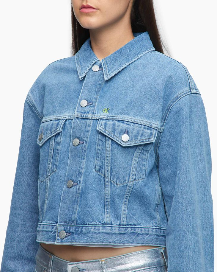 CALVIN KLEIN CK ONE DENIM TRUCKER JACKET