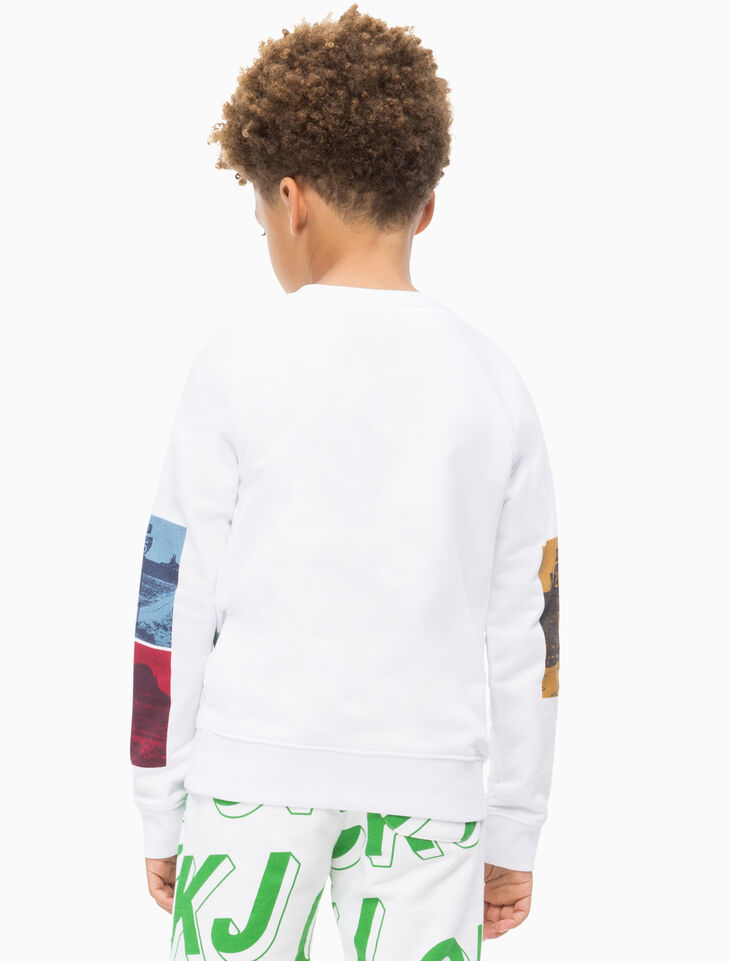 CALVIN KLEIN BOYS PHOTO PRINT SWEATSHIRT