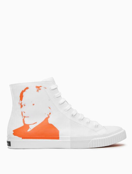 CALVIN KLEIN Warhol Portrait 캔버스 스니커스