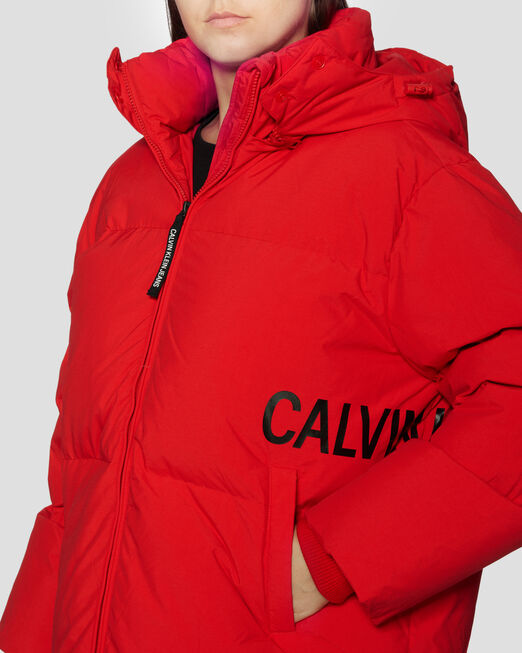 CALVIN KLEIN 오버사이즈 다운 퍼퍼 재킷