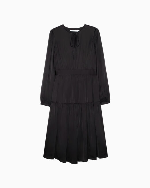 CALVIN KLEIN FEMININE LONG SLEEVE DRESS