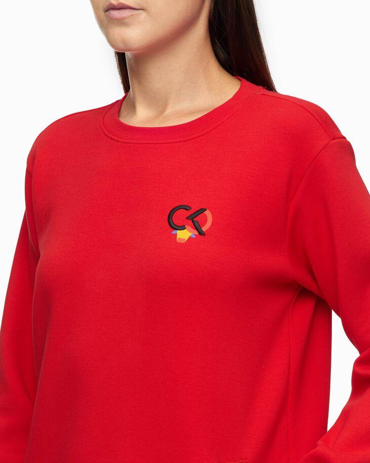 CALVIN KLEIN CHINESE NEW YEAR CAPSULE FABRIC MIX SWEAT DRESS