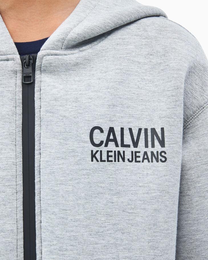 CALVIN KLEIN 男孩 SCUBA LOGO 拉鍊連帽上衣