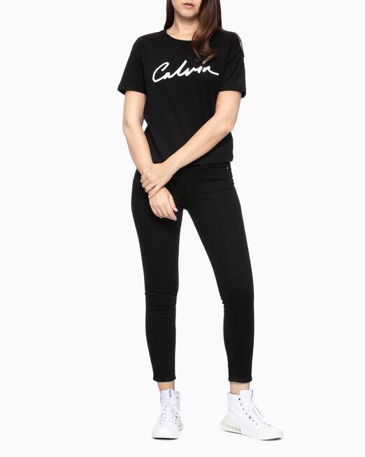 CALVIN KLEIN SCRIPT LOGO CHEST POCKET 티셔츠